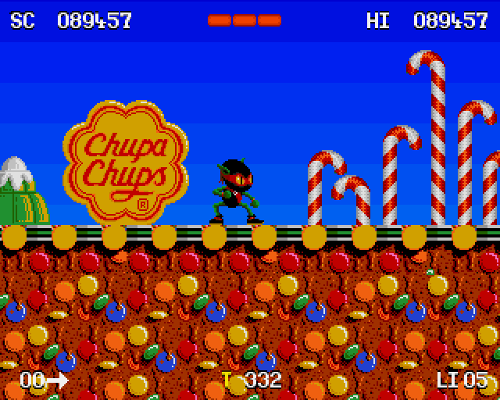 Games such as Zool were the first to feature in-game product advertising